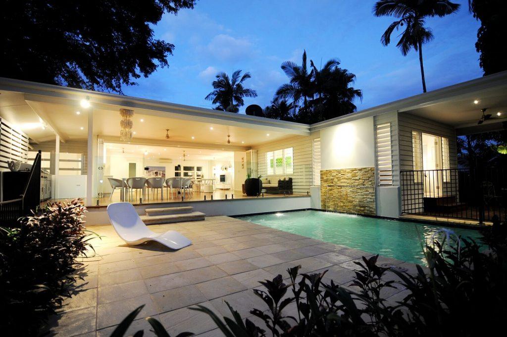 Master bedroom and deck extension of Queenlander home