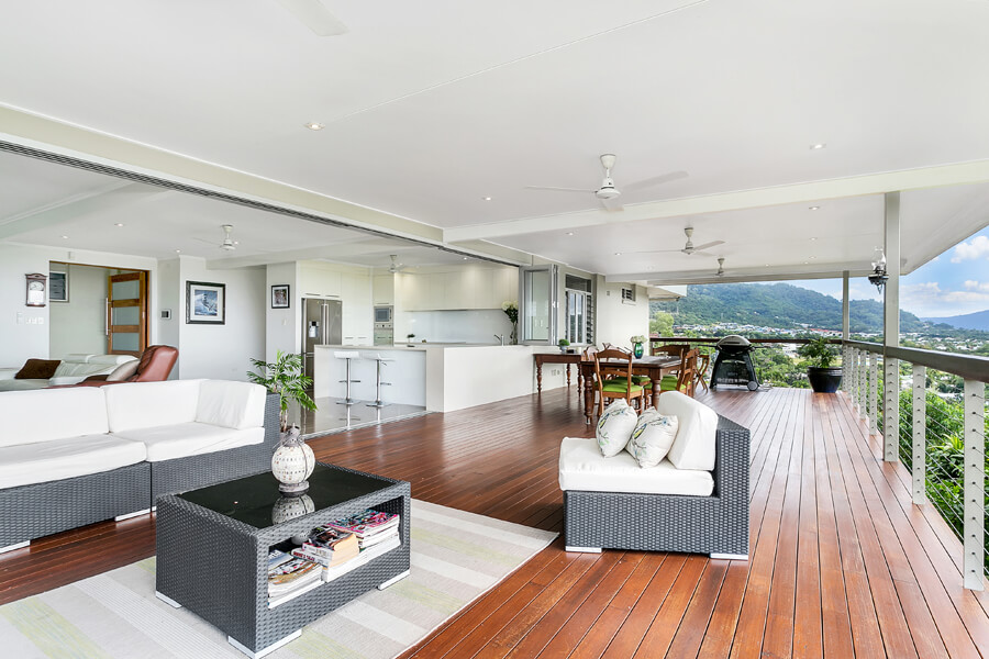 deck extension and open plan living home renovation