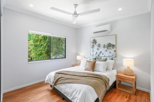Large bedrooms in custom designed home in Edge Hill.